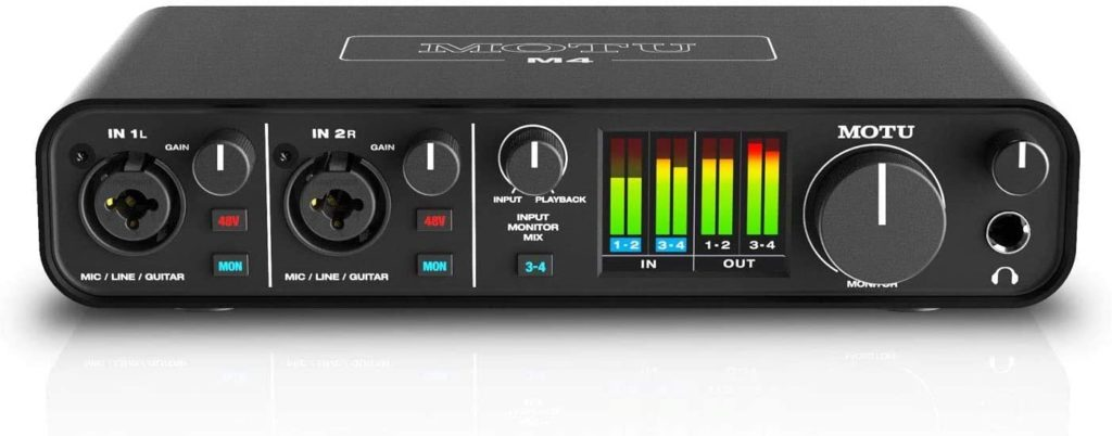 image de l'interface audio Motu M4